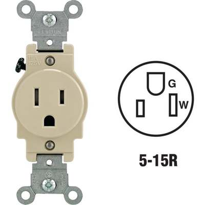 OUTLET - SINGLE 15A / IV
