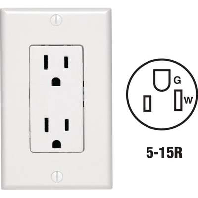 OUTLET - PLATE DUPLEX SQ / WH