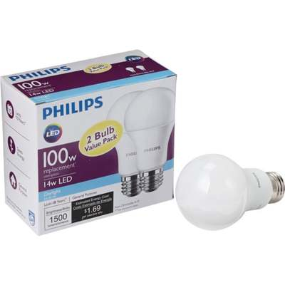 BULB 100W A21 LED MED DL 2PK