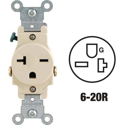 IVORY SINGLE OUTLET