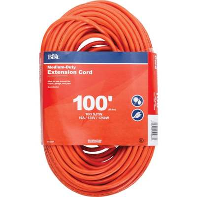 EXT CORD - 16/3 / 100'