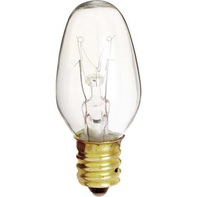 BULB NIGHTLIGHT 7W CLEAR 2PK