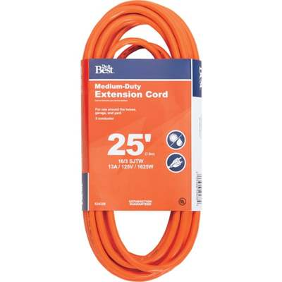 CORD EXT 25' 16-3 OUT/DR ORAN