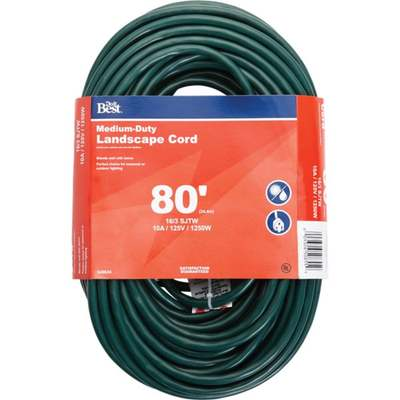 CORD EXT 80'16-3 GRN OUTDOOR