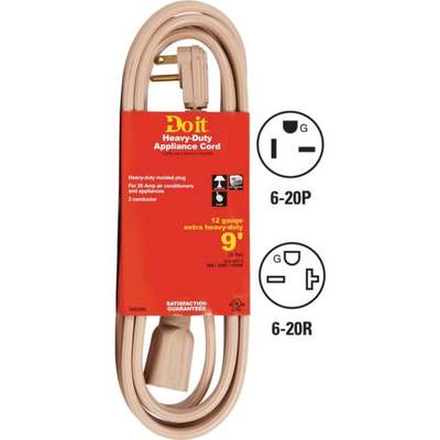 CORD EXT 9' 12-3 A/C 20A