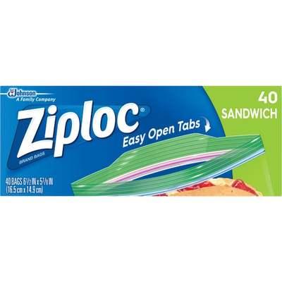 40CT ZIPLOC SANDWICH BAG