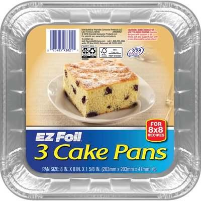 SQUARE CAKE PAN 3PK