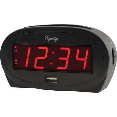 CLOCK ALARM LED DIGITAL BLACK