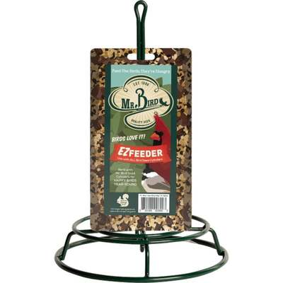 BIRD FEEDER METAL GREEN 12""