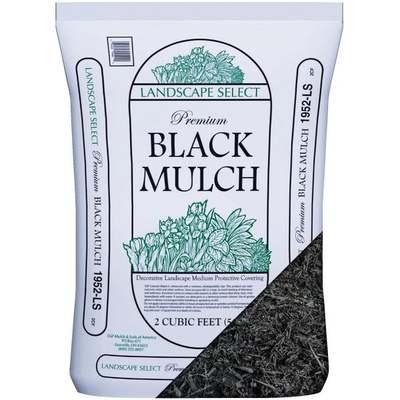 2CF BLACK SHREDDED MULCH