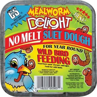 BIRD SEED SUET MEALWORM DELIGHT