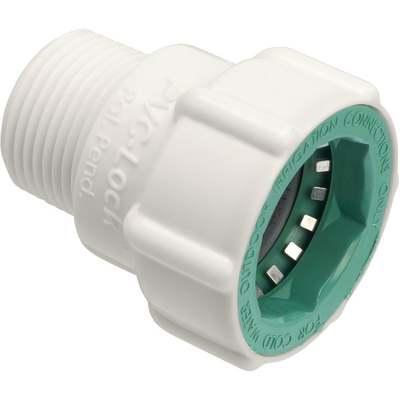 """ORBIT PVC LOCK ADAPTER MPT 3/4"""""""