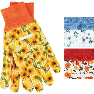 PANSY FLORL COTTON GLOVE