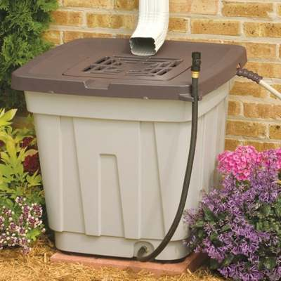 50 GAL RAIN BARREL TAN