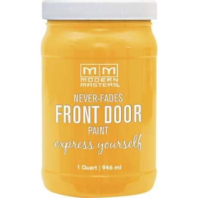 HAPPY YELLOW FRONT DOOR PAINT QT (Price includes PaintCare Recycle Fee)