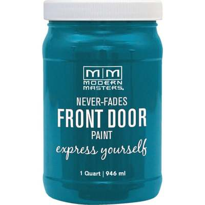 TRANQUIL TURQ FRNT DOOR PAINT QT (Price includes PaintCare Recycle Fee)