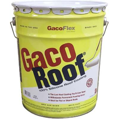 5GAL GACOROOF SILICONE WHT (Price includes PaintCare Recycle Fee)