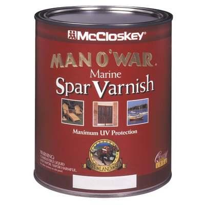 QT MAN O'WAR SATIN SPAR MARINE VARNISH (Price includes PaintCare Recycle Fee)