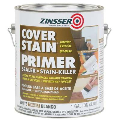 GAL ZINSSER OIL COVER-STAIN (Price includes PaintCare Recycle Fee)