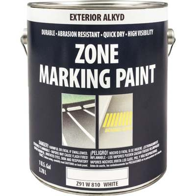 WHT ALKYD TRAFFIC PAINT GAL (Price includes PaintCare Recycle Fee)