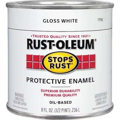 RUSTOLEUM OIL GLOSS WHITE 1/2 PT