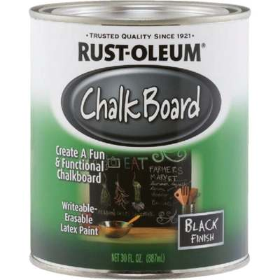 BLACK CHALKBOARD PAINT 30OZ (Price includes PaintCare Recycle Fee)