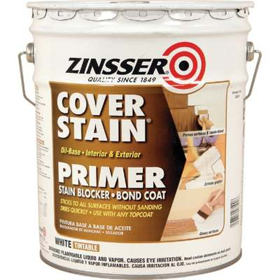 5 GAL ZINSSER COVER-STAIN (Price includes PaintCare Recycle Fee)