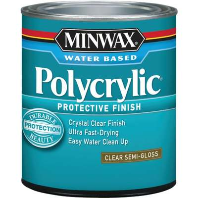 QT MINWAX POLYCRYLIC SEMI-GLOSS (Price includes PaintCare Recycle Fee)