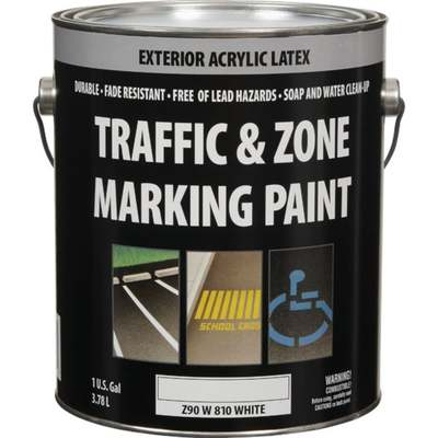 WHT LATEX TRAFFIC PAINT GAL (Price includes PaintCare Recycle Fee)