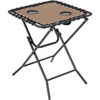 TAN FOLDING SIDE TABLE