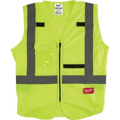 Milwaukee ANSI Class 2 Hi Vis Yellow Safety Vest 2XL/3XL