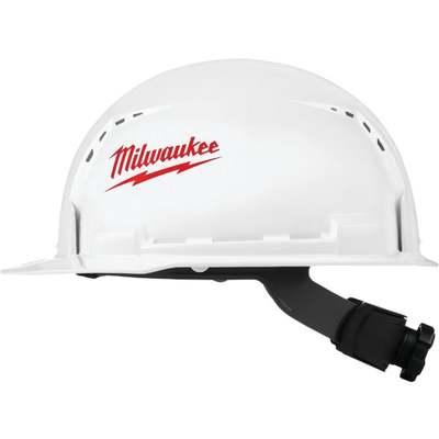 WHT/RED FRNT BRIM VNT HARD HAT