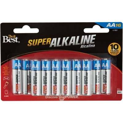 BATTERY - ALKALINE AA 16PK