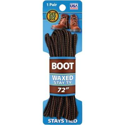 """72"""" BOOT LACE BROWN/BLK ROUND"""