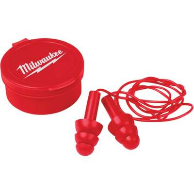 3PK CORDED EAR PLUGS RED