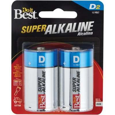 BATTERY - ALKALINE D 2PK