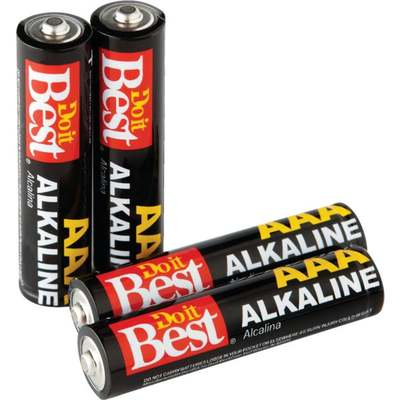 BATTERY - ALKALINE AAA 4PK