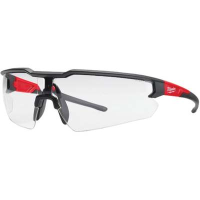 RED/BLACK CLEAR SAFETY GLASSES