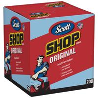 SHOP TOWELS (BLUE) IN A BOX