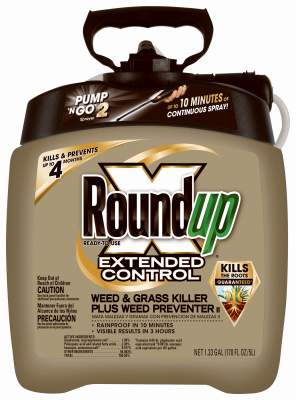 Roundup, Pump 'N Go Extended Control herbicide. 1.33 gallon
