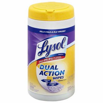 75CT Lysol DualAct Wipe