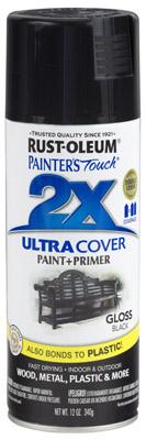 PT2X Black Spray Paint