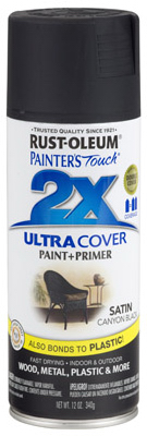 PT2X Satin Black Spray Paint