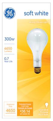 GE300W CLR STD LGT Bulb
