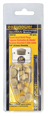 20Pk 3/8 Rnd Head Plug