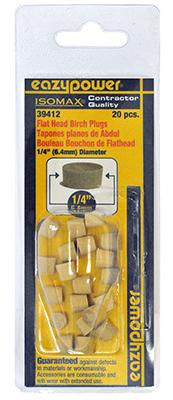 20Pk 1/4 Flt Head Plug