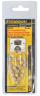 20Pk 1/4Rnd Head Plug