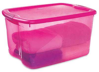 Ordinaire 66QT Pink Latch Storage.
