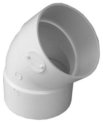 "3"" 45DEG HxH Elbow drain pipe"