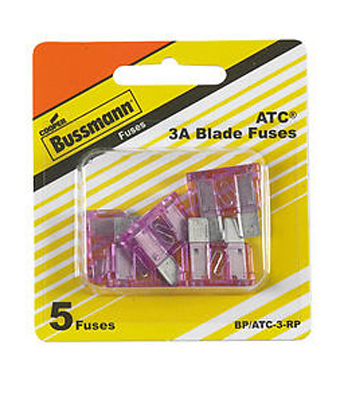 5PK 3A ATC BLADE FUSE RED